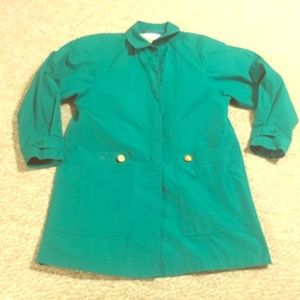 Vintage green London Fog rain coat